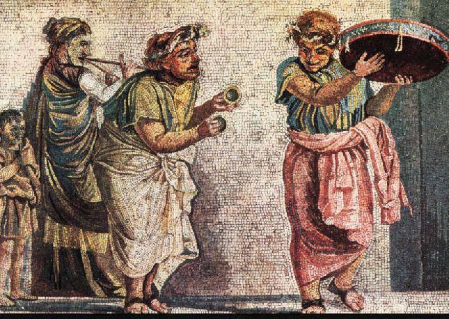 Niech zabrzmi muzyka!  Muzyka starożytnych Rzymian była częścią rzymskiej kultury od najwcześniejszych czasów. Miała charakter użytkowy. Muzycy zajmowali wysoką pozycję w społeczeństwie i zyskiwali patronat cesarzy.  Lukullus bardzo lubi śpiewać podczas biesiadowania.  A Wy - podzielacie to upodobanie?