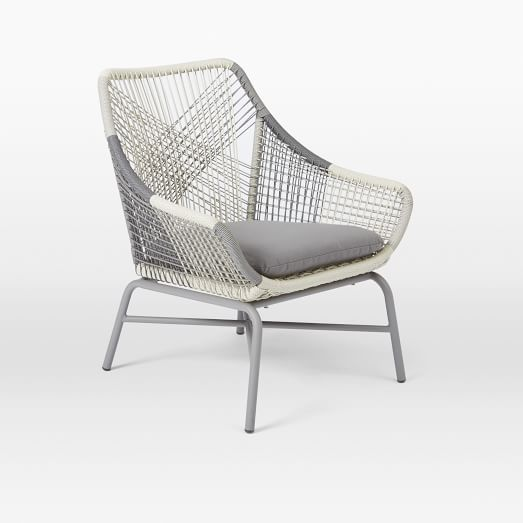 Huron Small Lounge Chair + Cushion – Gray | west elm - $499 (less 20% is $399.20)