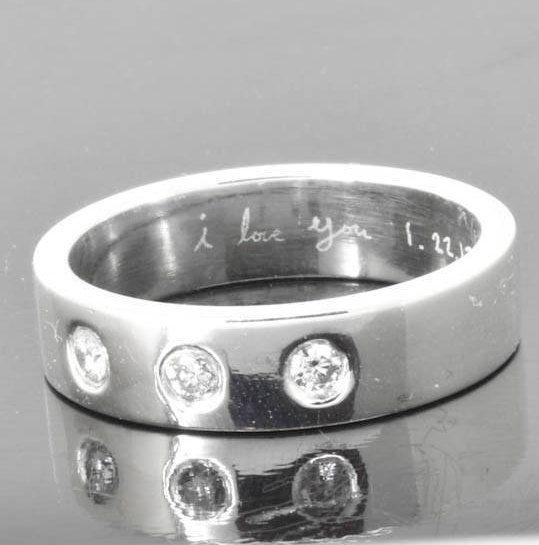 Diamond wedding band, wedding ring, engagement ring, mens ring, mens wedding band, man wedding ring band, men promise ring, engraved ring by JubileJewel on Etsy