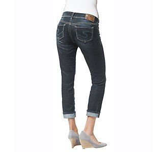The classic Suki capri from Silver Jeans provides the perfect fit that