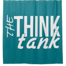 The Think Tank Shower curtain