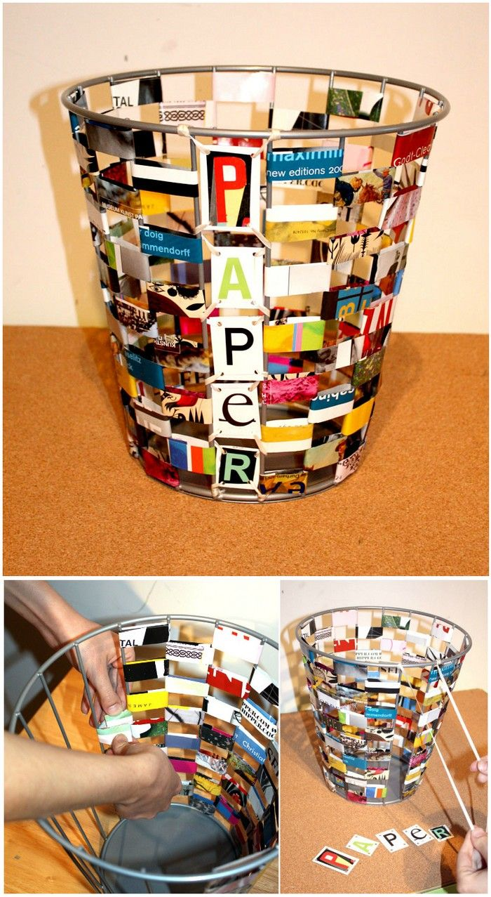 ReMake It Paper Waste Basket DIY Ideas To Recycle Magazines For
