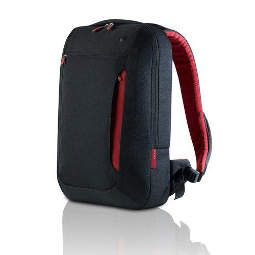 Belkin Impulse Line Slim Backpack For Notebooks Up To 17-Inch, Jet/Cabernet