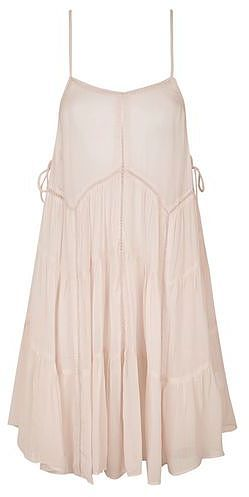 Womens blush layered strappy dress by glamorous from Topshop - £41 at ClothingByColour.com