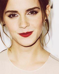 Classic red lip for a classy lady! Emma Watson  Try Ilia Lipstick in Wild Child