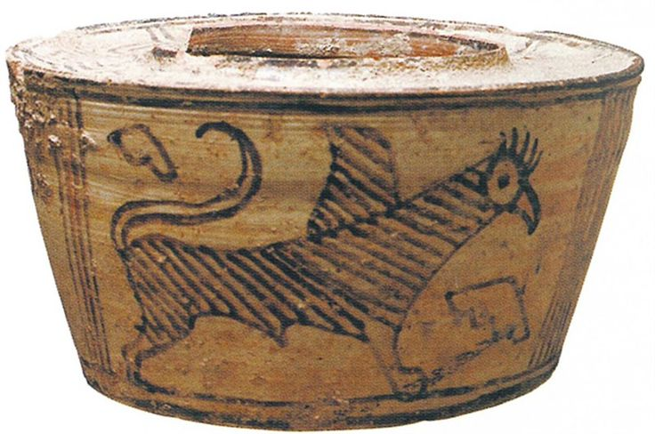 "Pot with Griffin Motif Provenance Baluchistan, Pakistan Period Latter half of 4th millennium B.C. Century 'O4000""N‹IŒã""¼ Ancient Orient Museum"