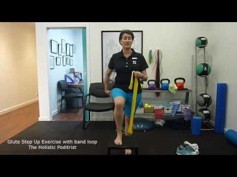 Glute Step Ups with loop band