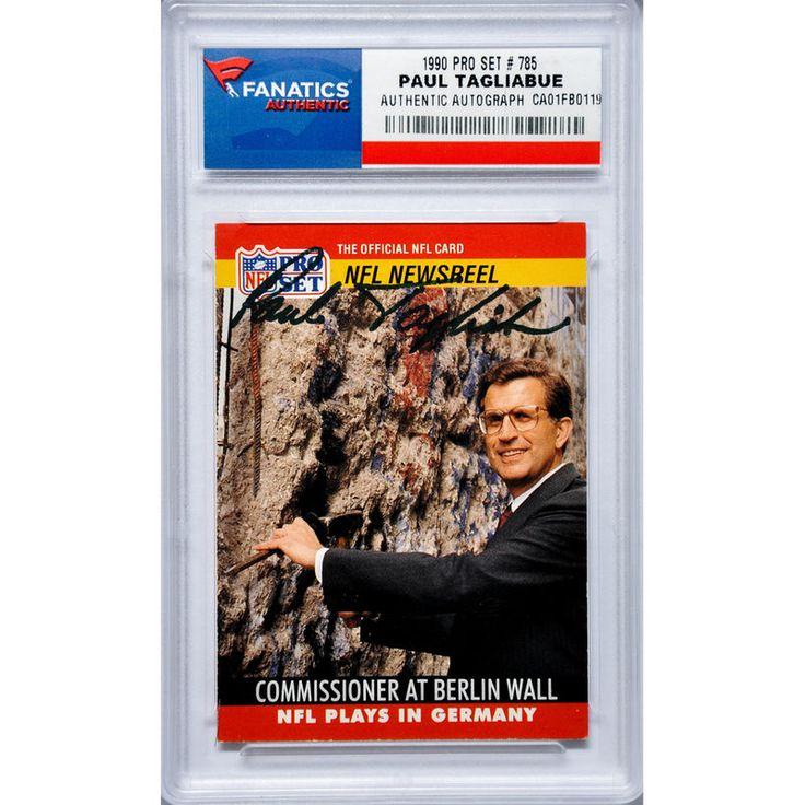 Paul Tagliabue Fanatics Authentic Autographed 1990 Pro Set #785 Card