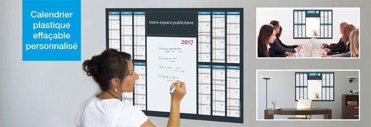 Jamet Communication - Calendrier effaçable à sec - 100% personnalisable - grille calendaire sur 12 ou 14 mois avec espace notes et/ou photos - impression sur support plastique - format : du A4 jusqu'au 1200 X 800 mm
