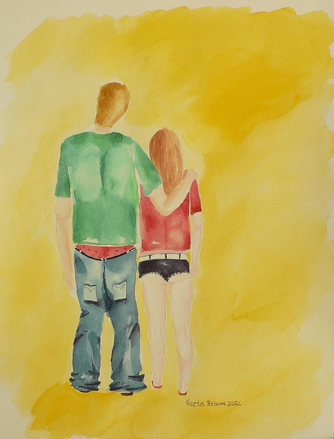 The teenagers amuse me with their amazing dress sense ! #dress #dressing #modern #teens #clothes #fashion #summer #weather #outfits #casual #art #illustration #painting #watercolor #forgirls