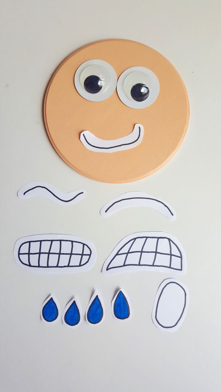 Interactive printable emotions face autism social skills tool