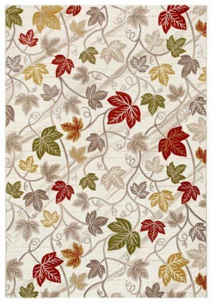 Fesitval Neva 9812A sari yaprak desenli halı modelleri