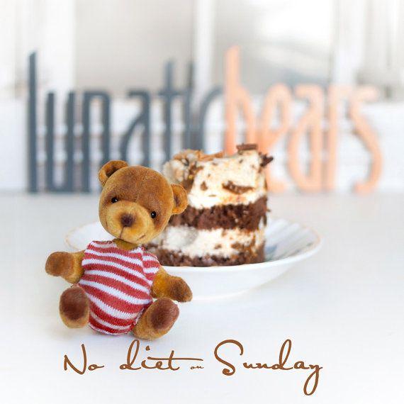 Artist bear Abe Pi collectable handmade miniature by LunaticShop