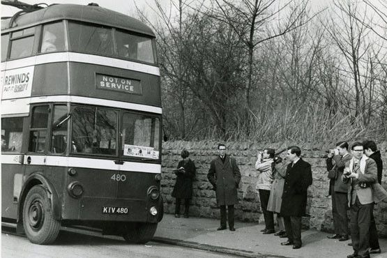 The arrival in Nottingham of a  bus carrying members of the Trolleybus Association caused quite a stir among enthusiasts in 1965