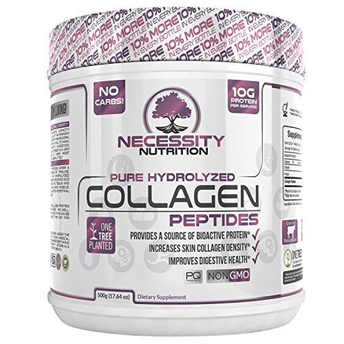 Collagen Peptides Powder Pure Hydrolyzed - Non GMO Grass Fed Pasture Raised Bovine Hide Premium Quality Protein - Gluten Free Paleo/Keto Friendly 17.3oz Supplement - Healthy Skin Hair Nails Best Value