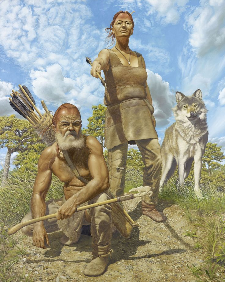 The Ice Age hunters of Oberkassel by Karol Schauer | Stone ...