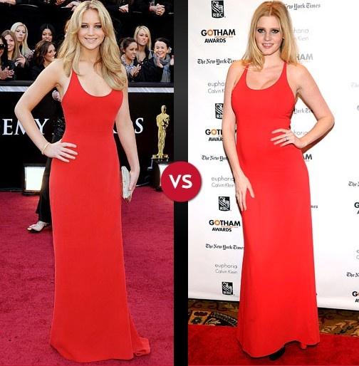 Who Wore it Best? Jennifer Lawrence or Lara Stone