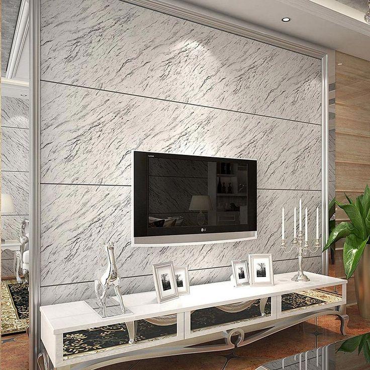 Modern Stripe Marble Stone Matt Light Vinyl Wall Paper Waterproof  Eco Friendly PVC Wallpaper For Kitchen Bathroom Living Room Part 59