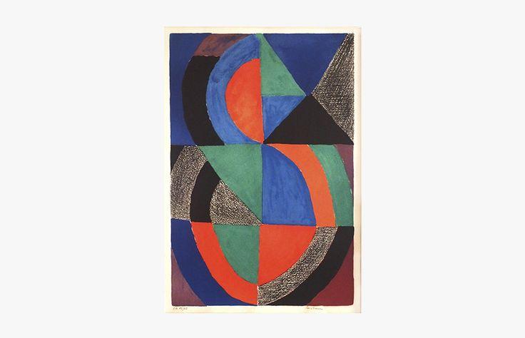 Sonia DELAUNAY Courbes Lithographie E.A. 13/25 81x56 cm
