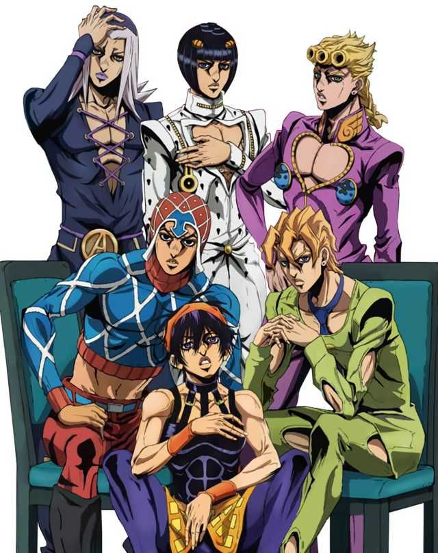 Golden Wind Anime Art Animedia Cover Jojo Anime Jojo S Bizarre Adventure Anime Jojo Bizzare Adventure