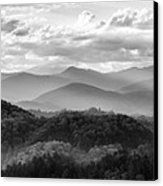 Layers In The Smokies Canvas Print by Jon Glaser