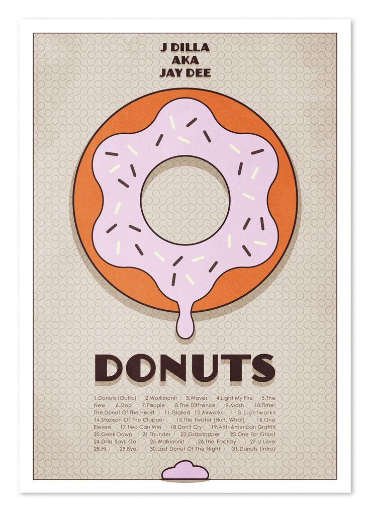 "Jay Dilla ""Donuts"" illustration by Brandon Brown"