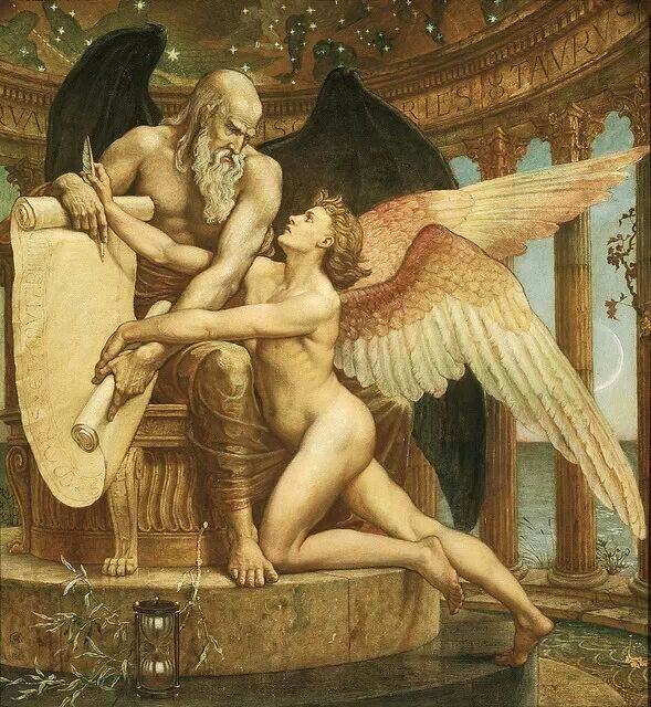 The Roll Of Fate Obra de Walter Crane (1845 – 1915)