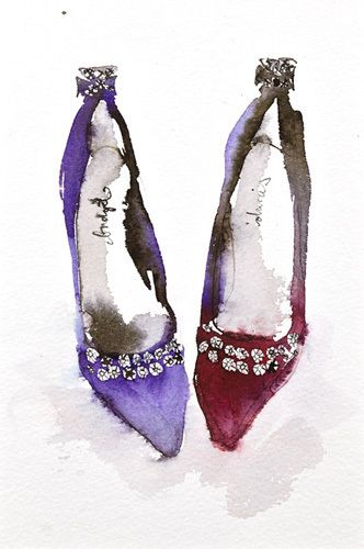 Crown Jewel Shoes - Bridget Davies Prints - Easyart.com