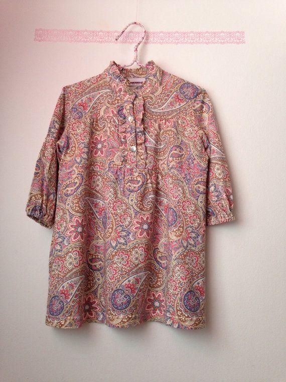 Платье девочка...Цветочные платья печати...Ретро от PetiteBellaaa