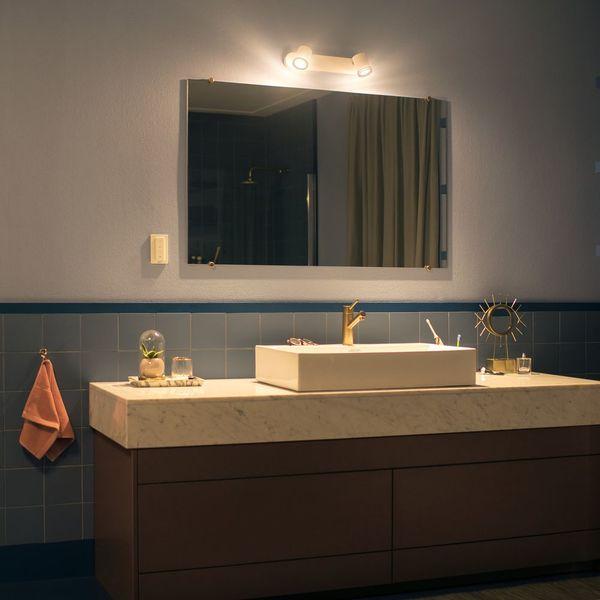 Philips Hue Adore Led Spot Weiss 2flg White Badezimmer Badezimmerleuchte Interieurdesign Deckenleuchte Spiegelleuchte Licht Light Lampe Lighting I