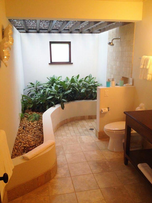 INdoor Outdoor bathroom.