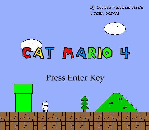 Pada postingan kali ini saya akan membagikan game untuk PC, yaitu Cat Mario 4 Terbaru Full Version. Game atau permainan Cat Mario adalah game 2d dan sangat mirip dengan permainan yang tak asing lagi yaitu Super Mario. Yang membedakan mungkin hanyalah game ini Anda harus bermain sebagai karakter kucing dan terdapat banyak tantangan dan jebakan yang menyulitkan di dalamnya. http://tutorial-blogz.blogspot.com/2016/04/download-game-cat-mario-4-full-version.html