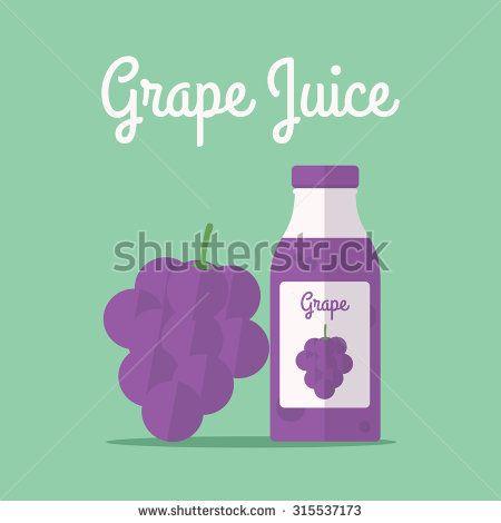vector illustration of grape juice - stock vector