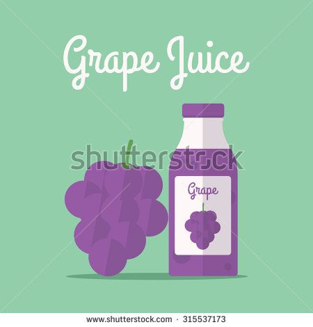 vector illustration of grape juice - stock vector