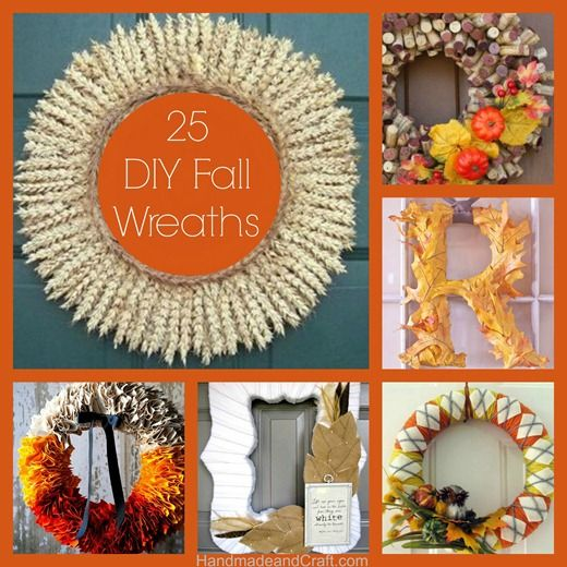 25 Fall Wreaths {DIY Decor}...There's something for everyone and they're all easy to make! #diy #fall #wreath ACORN WREATH AND REUSEABLE BURLAP WREATH