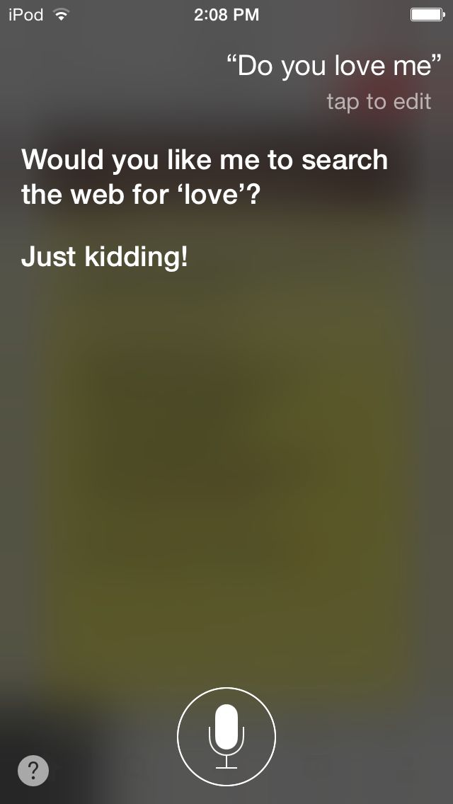 even siri knows how to be funny questions for siri, talking to siri