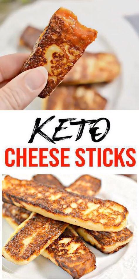 ¡Los mejores palitos de queso Keto! Idea de palo de queso bajo en carbohidratos Keto – Ketoge rápido y fácil …