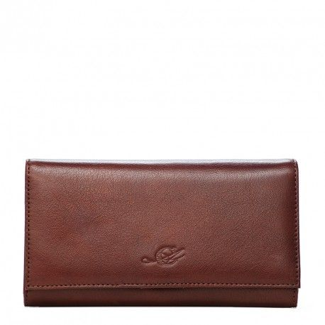 Wallet Handbag for Ladies from Atelier CREARTE's VIVA collection. Portafogli Borsetta in Vegetale Lux (vitello vegetale) dalla grana appena accennata e le sfumature di colore diverse - Atelier CREARTE Collezione VIVA