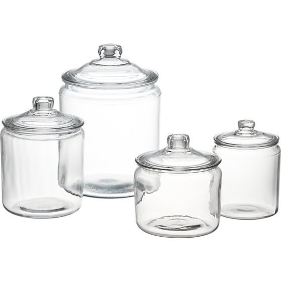 Heritage Hill 128 oz. Glass Jar with Lid in Food Containers, Storage | Crate and Barrel