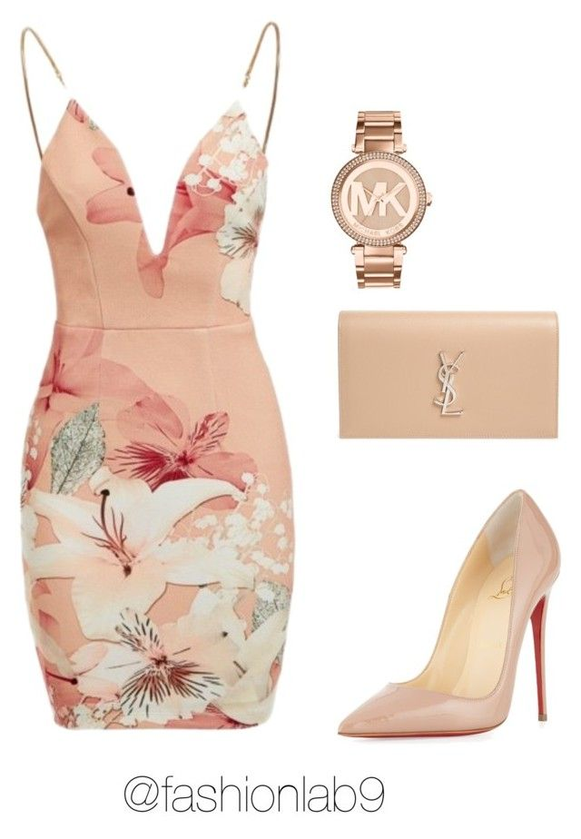 """""""Untitled #1068"""" by alana-andrea-bacchus on Polyvore featuring Michael Kors, Ginger Fizz, Christian Louboutin and Yves Saint Laurent"""