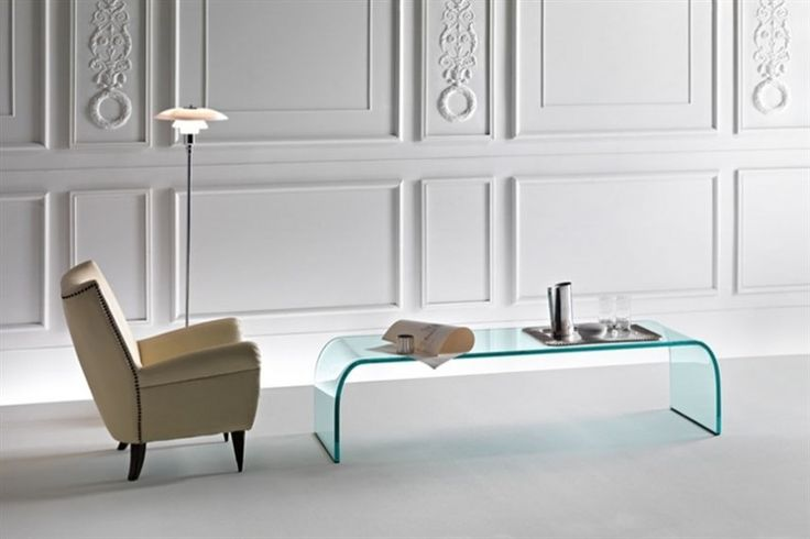 GlazenDesignTafel.nl | Glazen salontafel Ponte | FIAM | Italian design | Glass table by Angelo Cortesi | vidre glastoepassingen, Leiden