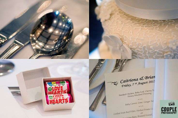 Details of table decor and wedding favors. Wedding photography at The Brooklodge Hotel by Couple Photography.
