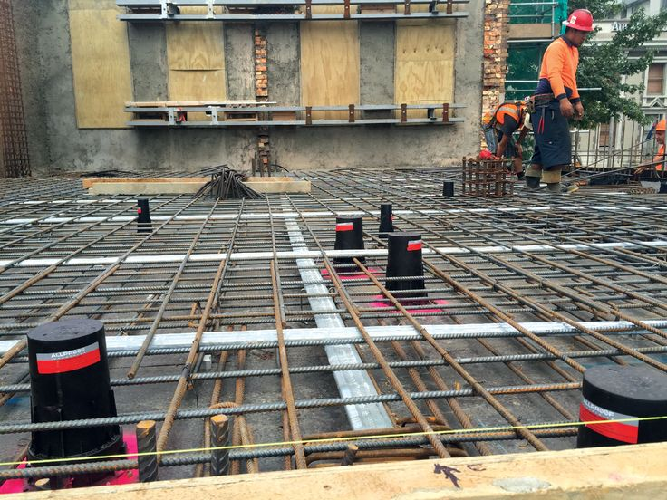 Allproof cast in fire collars (CIFC) being positioned ready for a concrete pour. Our fire protection products provide a great solution for your project with extensive testing and results available to ensure you choose the correct product for your application. #fireprotection #architecture #allproofproducts #architecture #buildingdesign #firecollar #castin