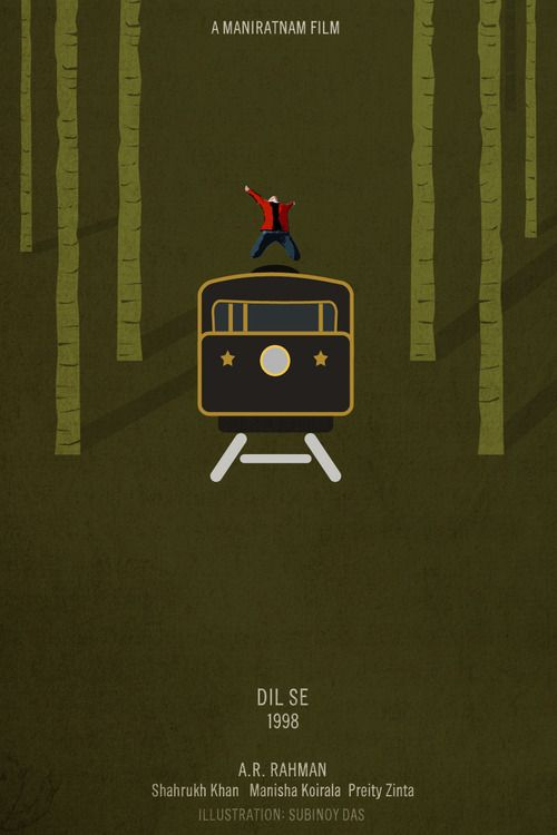 Some of the most creative Minimal Bollywood Movie Posters. #ShahrukhKhan #MalaikaArora #DilSe