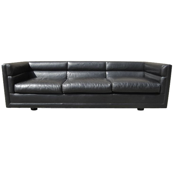Leather sofa by Edward Wormley for Dunbar