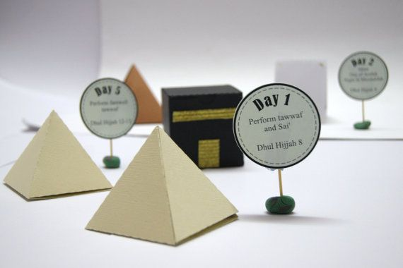 Perfect Hajj kit for learning the rituals for hajj, or Eid decoration. With this kit, youll find supplies to make the following models 1. Kaabah