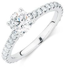 Michael Hill Designer Aria Engagement Ring with 1.71 Carat TW of Diamonds in…