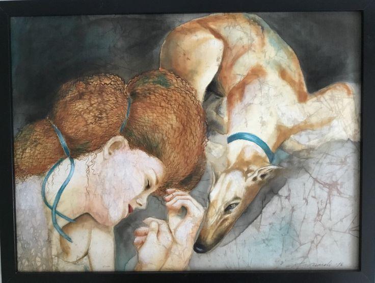 Artist:Gunseli Toker. Textile art.Silk color on silk .www.gunselitoker.com