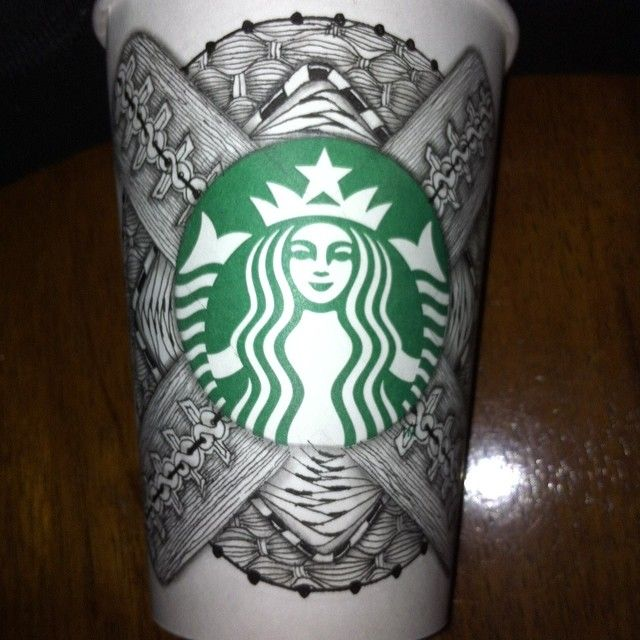 Starbucks Pinned My Cup For Their Woohoo Art By WhimsybyKelly