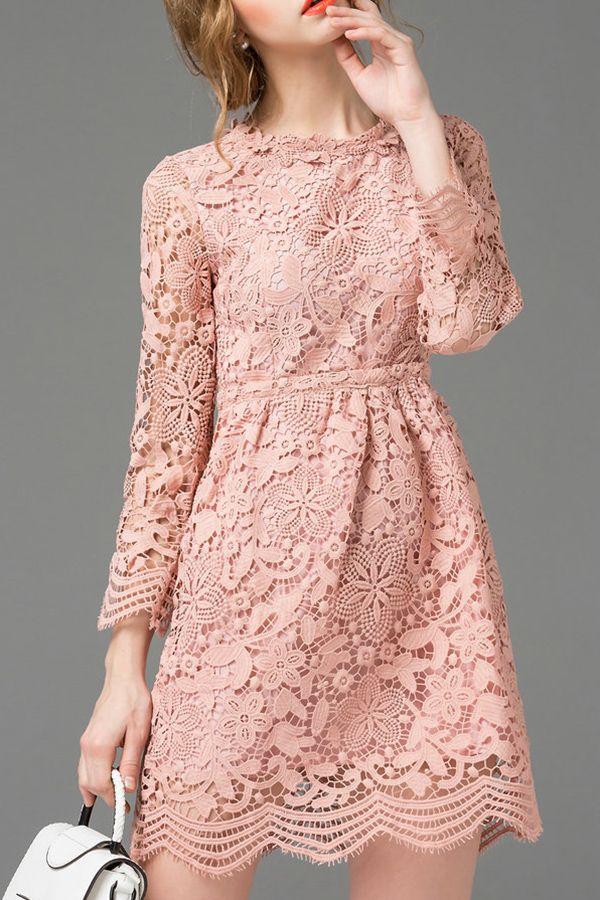 Lace High Waist Mini Dress | Affiliate link |